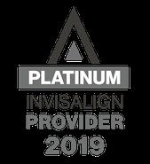 2019 Platinum Invisalign Logo at NCOSO Orthdontics