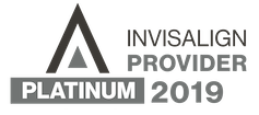 2019 Platinum Invisalign Provider Logo horizontal