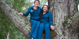 Dental Assistants sitting in a big tree in Greensboro NC