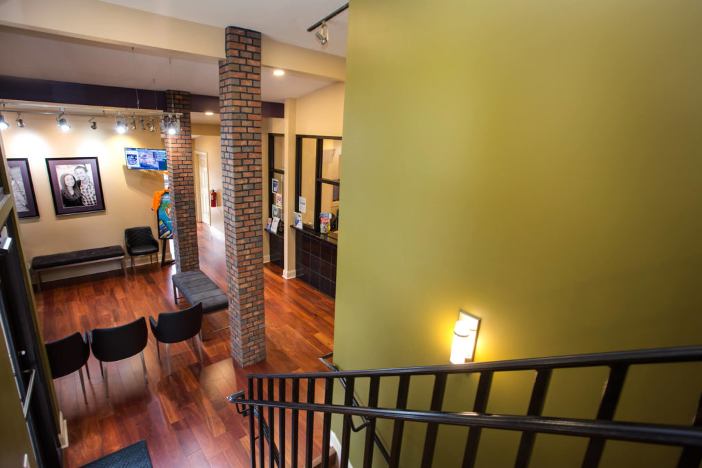 Loft style orthodontic office in Greensboro NC