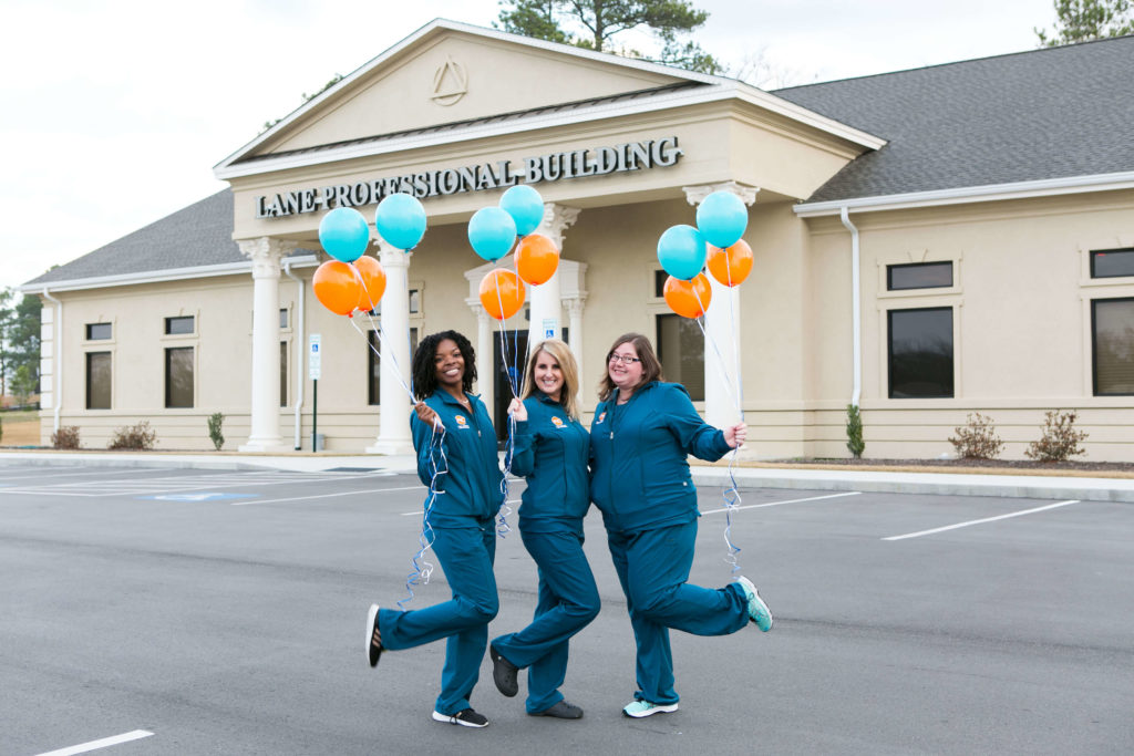 Hamlet NC Orthodontic and Oral Surgery staff with Balloons