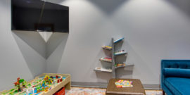 Kids Room with TV books and toys at Orthodontist